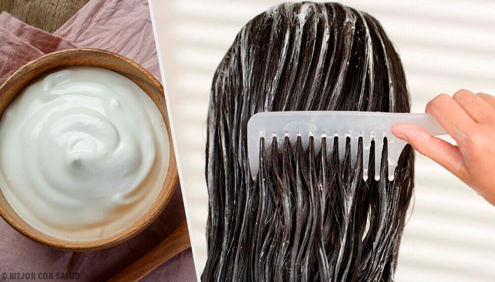 Majones for å styrke håret