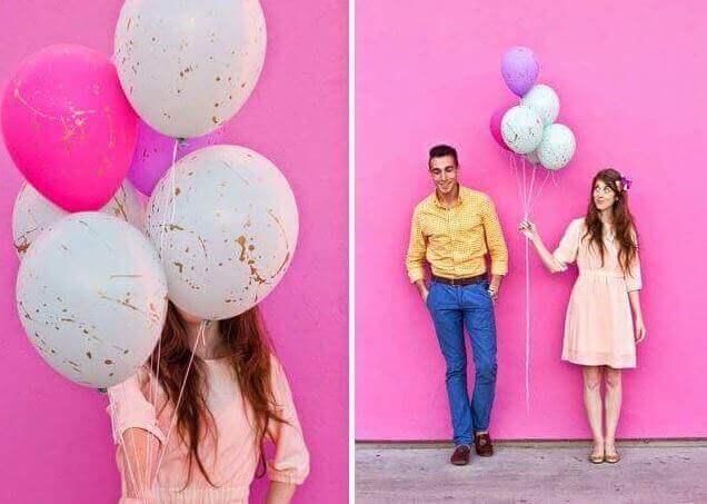 Ballonger med malingsflekker