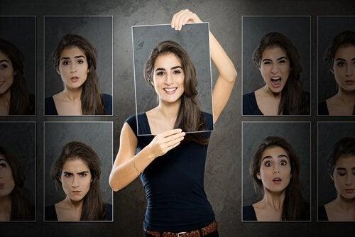 Kvinne med humørsvingninger