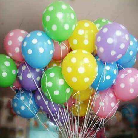 Ballonger med prikker