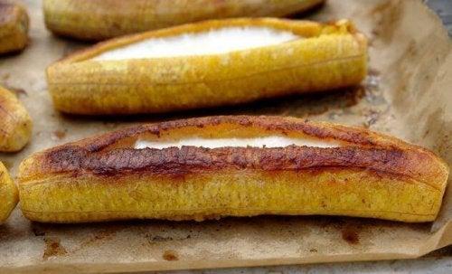 Stekte modne kokebananer