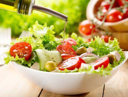 Salat med olje