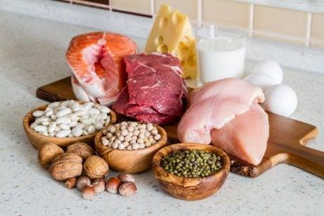 Matvarer med proteiner