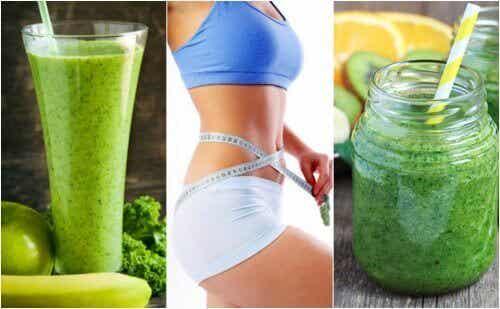 gå ned i vekt med 5 grønne juiceoppskrifter