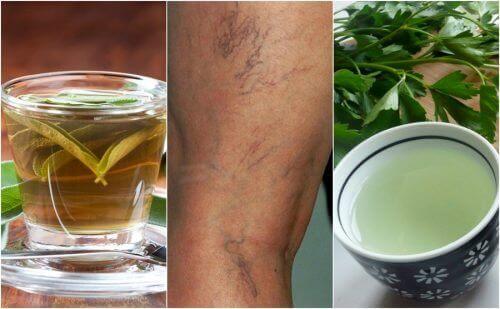 5 vanndrivende teer for å behandle åreknuter fra innsiden