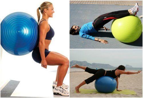 5 øvelser for setemuskler med hjelp av en treningsball