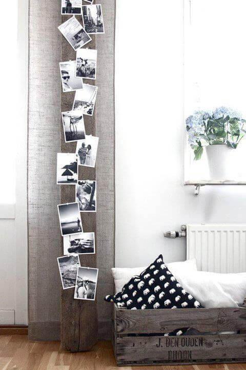 Fotografier på stolpe