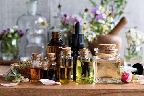 Lindre hodepine med eteriske oljer