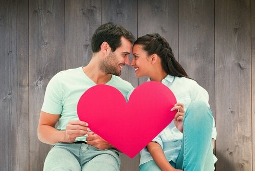 Par holder hjerte