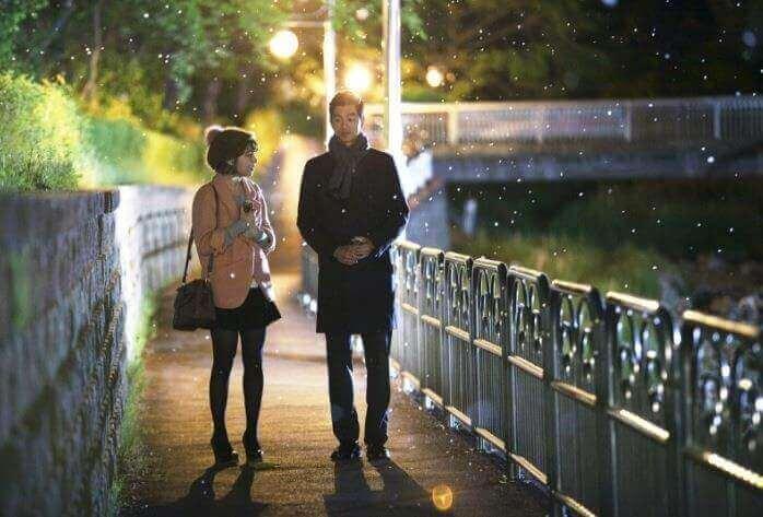 Mann og kvinne går tur