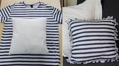 Pute av gammel t-skjorte