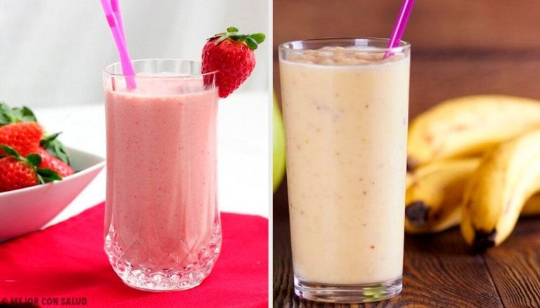 5 smoothier med jordbær og banan som du kan ha til frokost