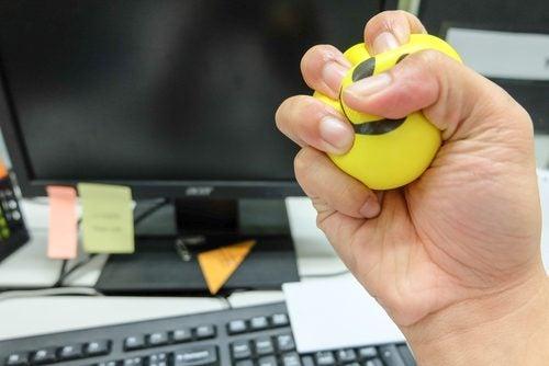 Stressball på kontoret