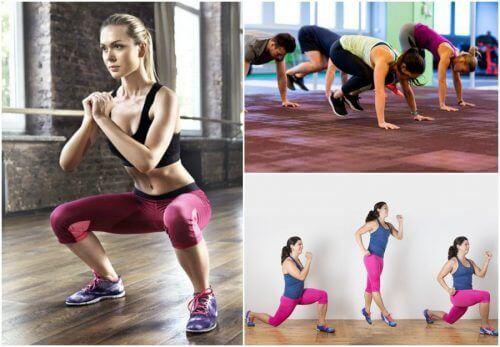 Hold kroppen din i form med disse 5 øvelsene uansett hvor du er