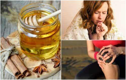 8 medisinske fordeler med kanel og honning