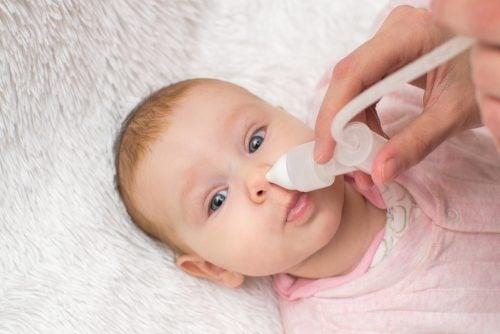 Spedbarn med tett nese