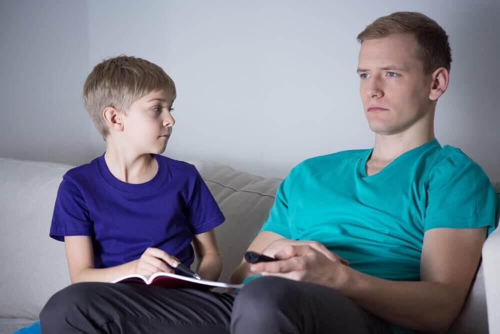 Barn og fraværende far