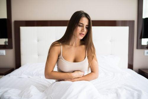 Kvinne med fortstoppelse