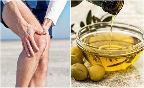 Lindre leddsmerter med sitronskall og olivenolje