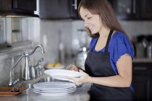 La oppvasken lufttørke