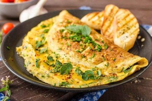 Eggeomelett med spinat