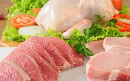 Kylling og kjøtt for å forhindre forstoppelse