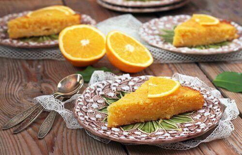 Appelsinkake med sunne ingredienser