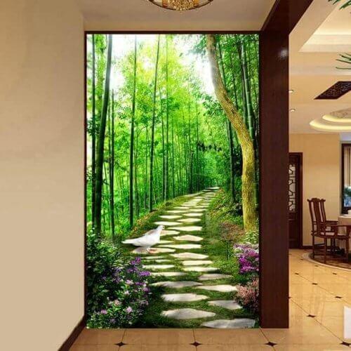 dekorere gangen med billedtapet
