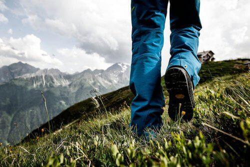 gå en tur i fjellet
