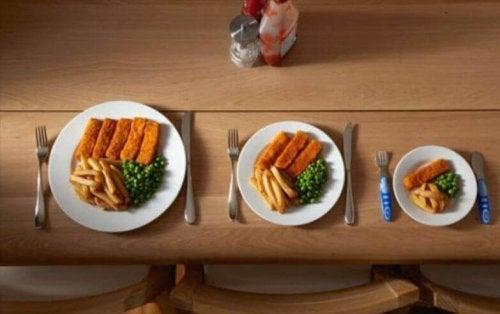 måltidsstørrelse