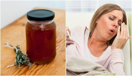En naturlig hostesaft av timian og lakris