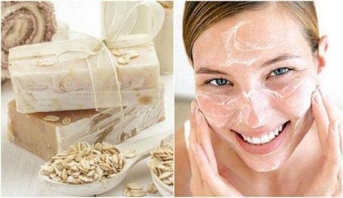 Hjemmelaget havre- og honningsåpe for å gi huden din fuktighet