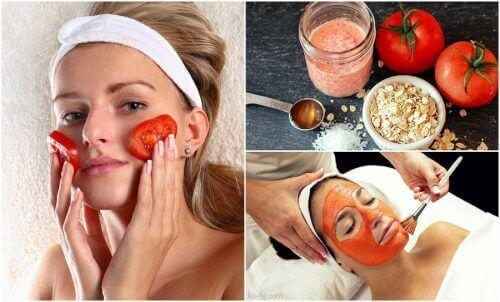 5 skjønnhetsbehandlinger av tomat mot akne og mer