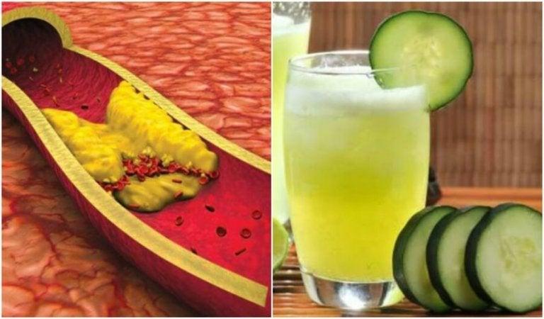 Reduser høyt kolesterol med juice av aloe vera, agurk og grapefrukt