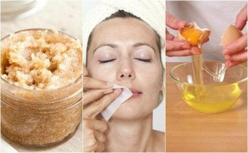 4 naturlige produkter for å fjerne kroppshår