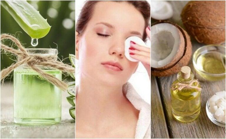 5 naturlige ingredienser for å fjerne sminke og pleie ansiktet