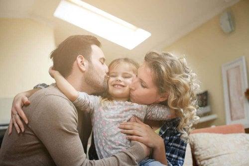 Fire problemer med å være en eneste datter