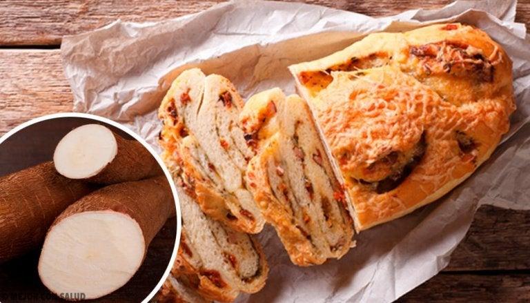 Brød med kassava, havre og sjokolade uten gluten, laktose eller sukker