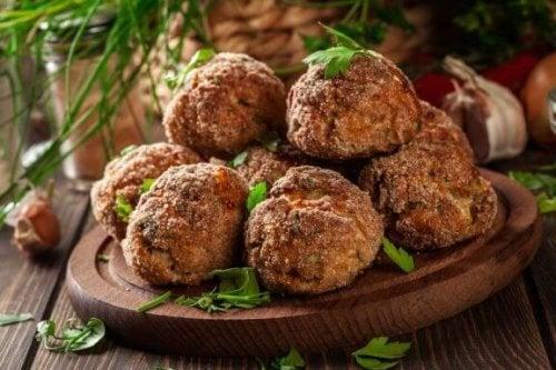'Kjøttboller' av aubergine, en smakfull oppskrift