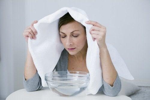 a et dampbad for å rense lungene dine.