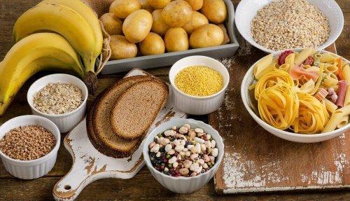 Mattyper med karbohydrater.