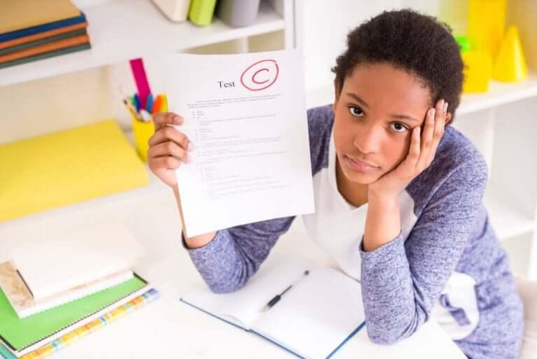 Barn med C på skoleprøve