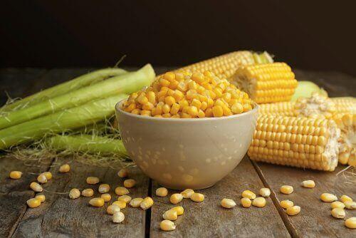 Cornflakes av mais.