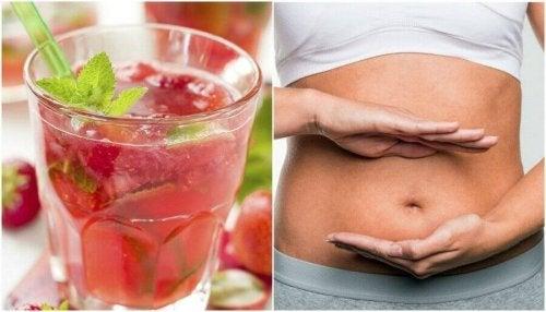 Avgift kroppen din med jordbær- og sitronvann