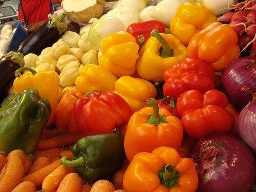 Grønnsaker er rike på hyaluronsyre