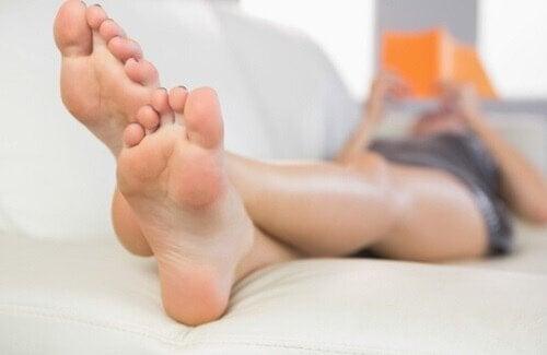 sunne, avslappende føtter