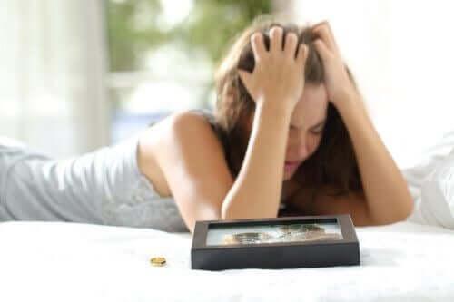 frustrert kvinne