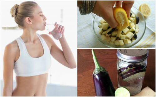 Lær å lage sitron- og auberginevann for vekttap