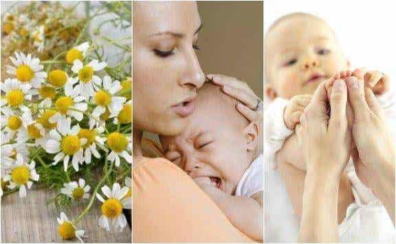 5 naturlige preparater for å lindre kolikk hos spedbarn