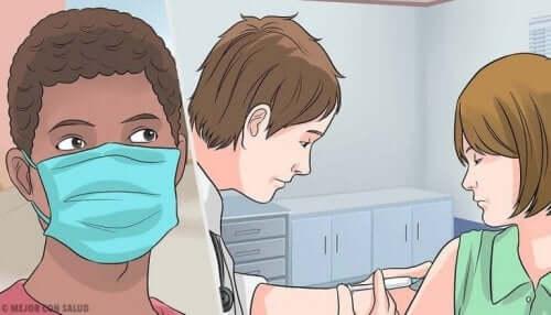 Kvinne hos legen